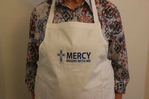 'Mercy Begins with Me' Apron