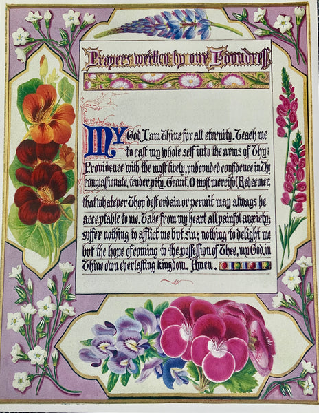 Poster- Prayers written by our Foundress