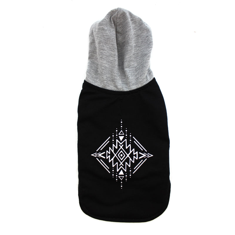 Tribal Print Lightweight Wrap Vest Hoodie for Dogs