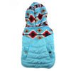 Tribal Print Light Blue Coat for Dogs with Hood