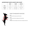 fleece dog jacket size chart