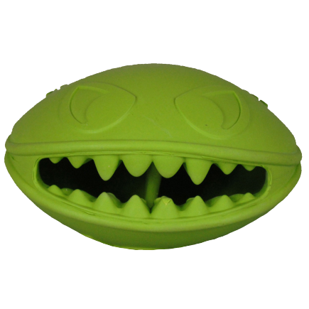 Green Monster Mouth Treat Ball Dog Toy