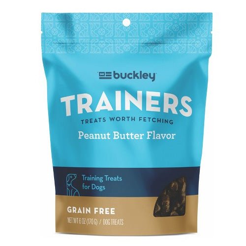 Buckley Trainers Peanut Butter Flavor Dog Treats, 6 oz