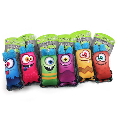 Funny Monster Faces Dog Toys with no squeakers