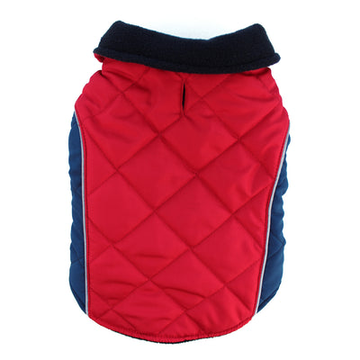 Red Quilted Field Jacket for Dogs