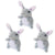Mini Bunny Dog Toys, 3 pack