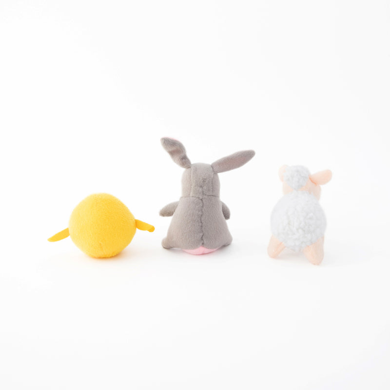 Easter Animals Mini Dog Toys, 3 pack