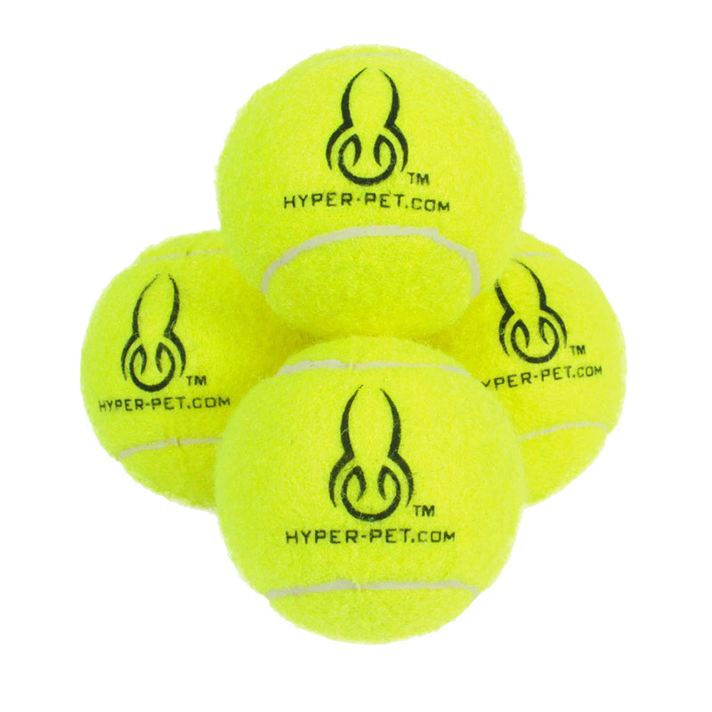 Hyper Pet Yellow Tennis Balls, 4 pack