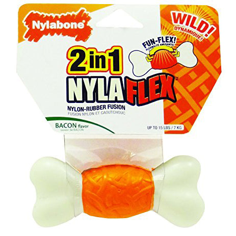 Bacon flavor dog chew for small little dogs Nylaflex by Nylabone