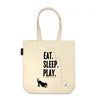 "Pug Tote Bag ""99 Problems but a bed ain't one"""