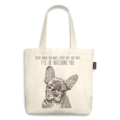 "French Bull Dog Tote Bag ""I'll be watching you"""