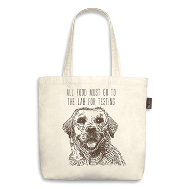 "Labrador Tote Bag ""all food must go to the lab"""