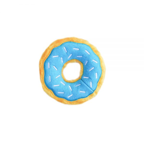 Blueberry Donut Squeaker Dog Toy