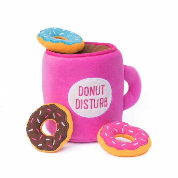 Coffee & Donuts Puzzle Dog Toy