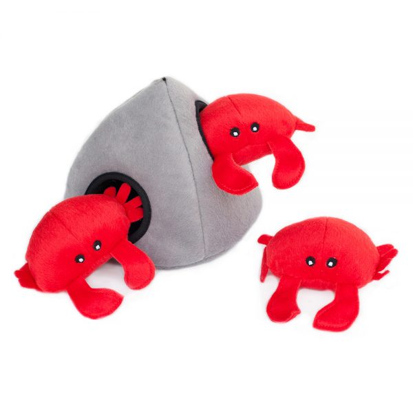 Crabs & Rock Puzzle Dog Toy