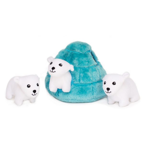 Polar Bears & Igloo Puzzle Plush Toy for Dogs