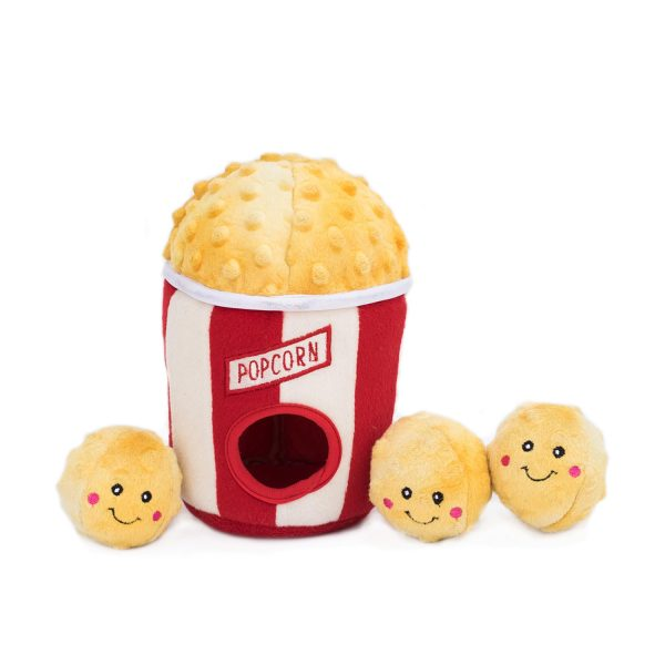 Popcorn Bucket Puzzle Plush Toy for Dogs