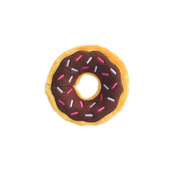 Chocolate Donut Squeaker Dog Toy