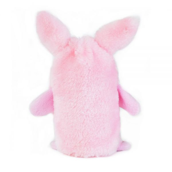 Pink Squeakie Bunny Dog Toy