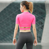 Mid Sleeve Yoga Crop Top - Plenty of Yoga