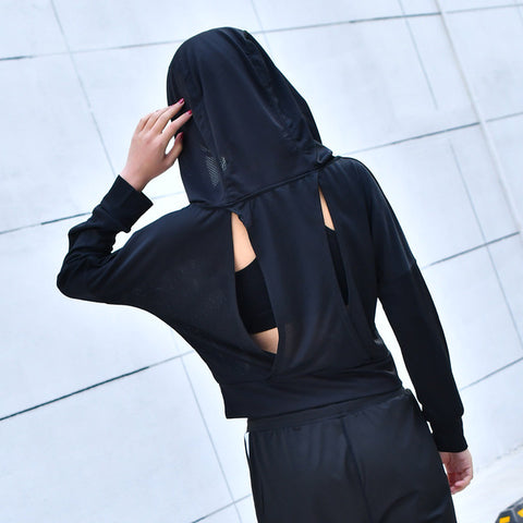 Hooded Longsleeve Yoga Top With Airvents - Plenty of Yoga