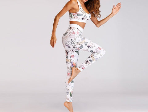 Floral Yoga  2 Piece Set - Plenty of Yoga