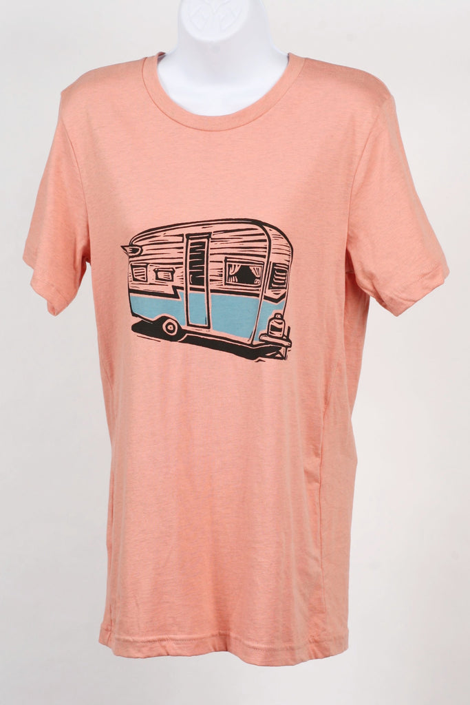 e99359fdba67 ... Camper On Heather Prism Sunset Unisex T-shirt SM MD LG Xl 2XL ...