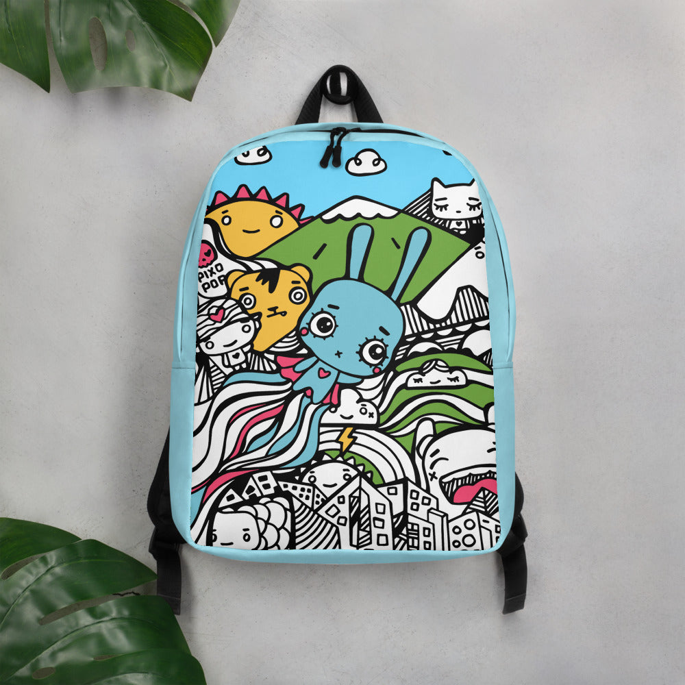 Pixopop Flying Stitch Minimalist Backpack