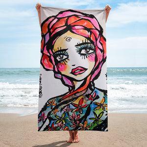Wind Heart by Sabet Beach Towel