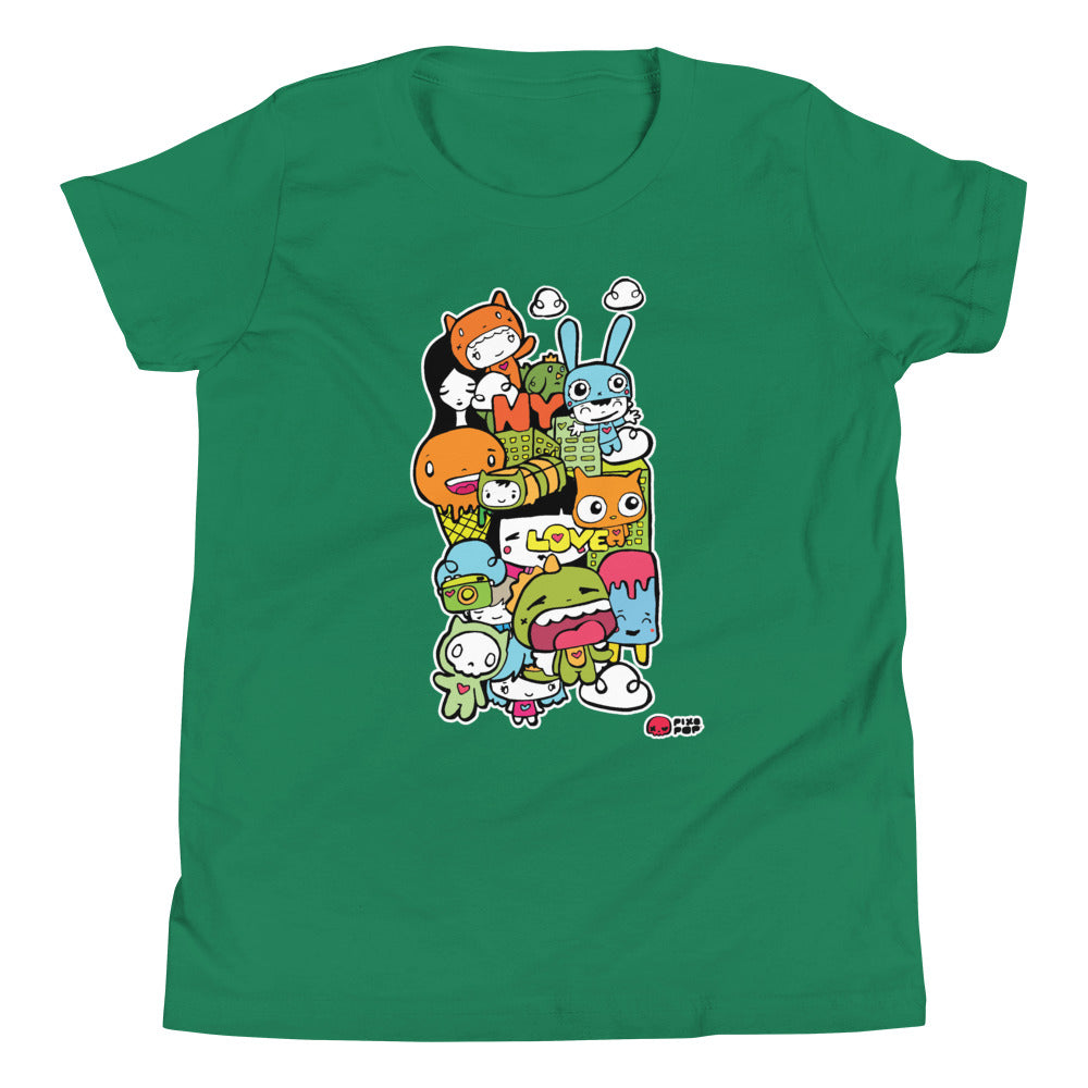 Pixopop Love Stack One Youth Short Sleeve T-Shirt