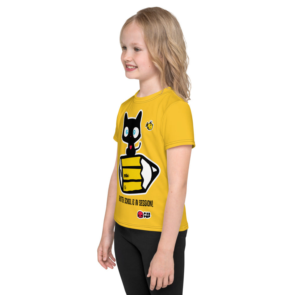 Pixopop Kitty School Kids T-Shirt