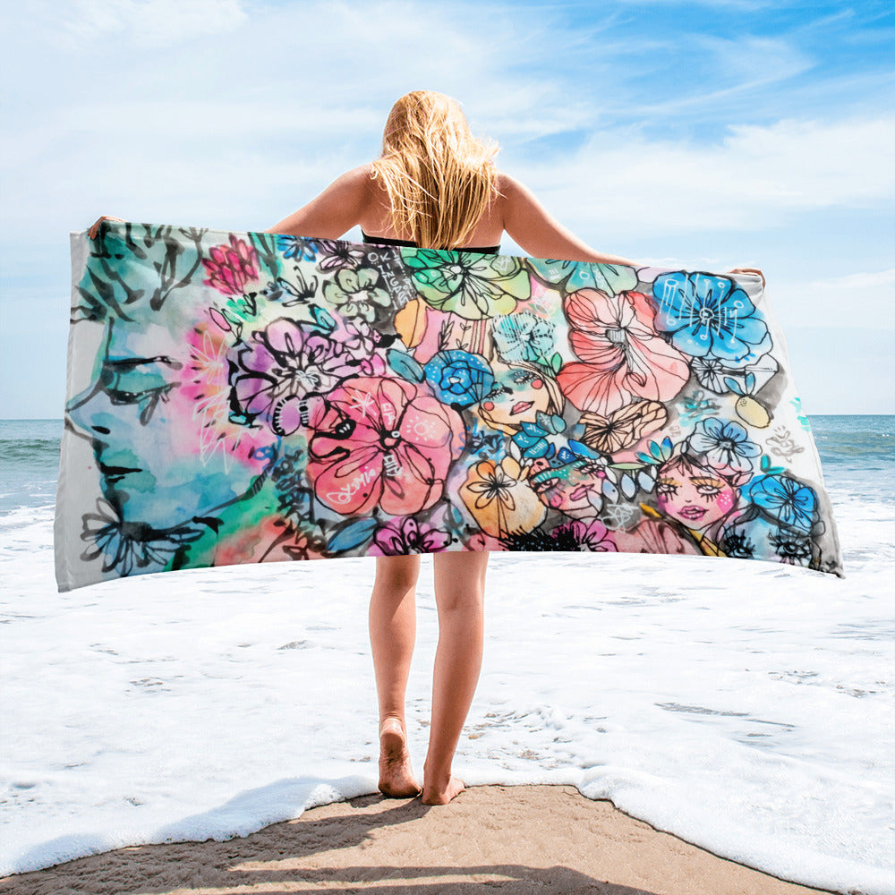 In The Way by Sabet Beach Towel