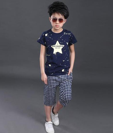 Star Printed Clothing Set