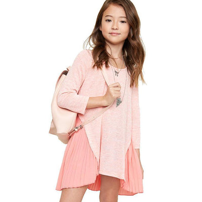Girls Patchwork Pleated Dress