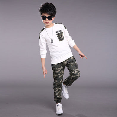 Camouflage Sports Clothing Set