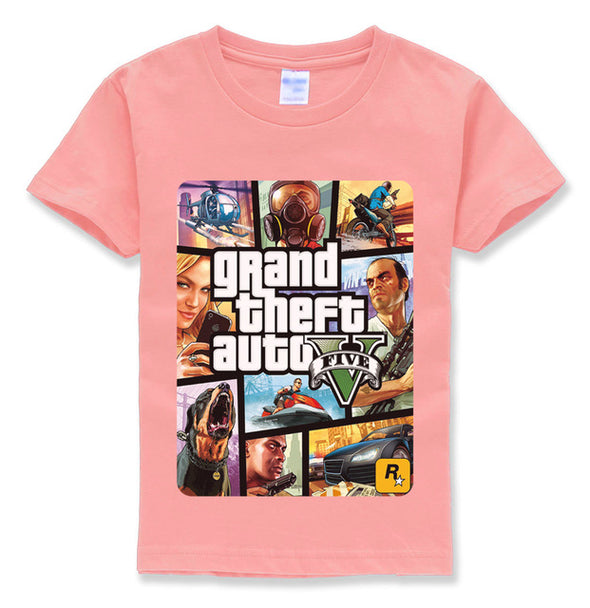 Grand Theft Auto Printed T Shirt