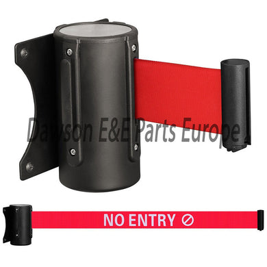 Wall Mount Retractable Barriers strap 'No Entry'