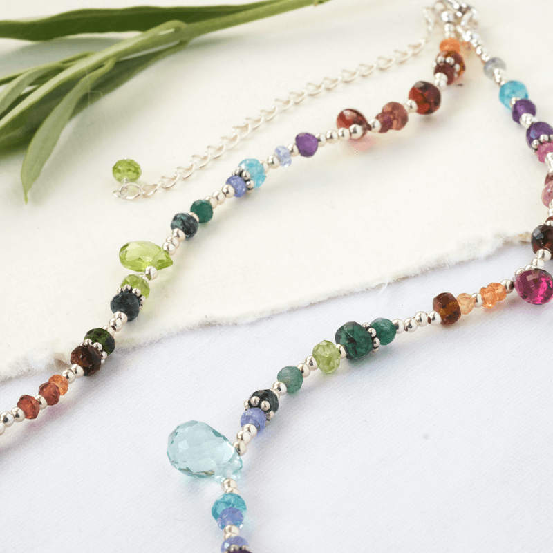 What is a semi precious stone?