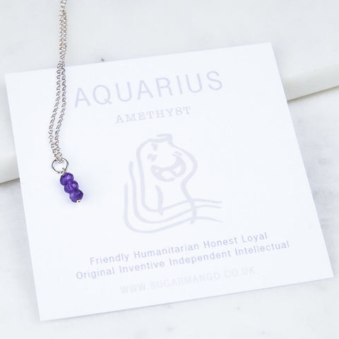 Aquarius Birthstone Necklace