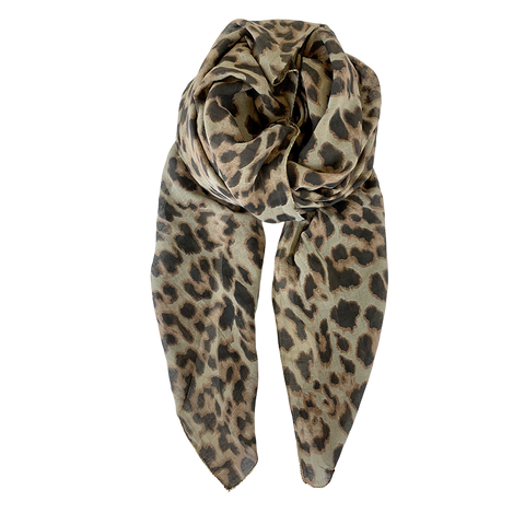 leopard print scarf Black Colour