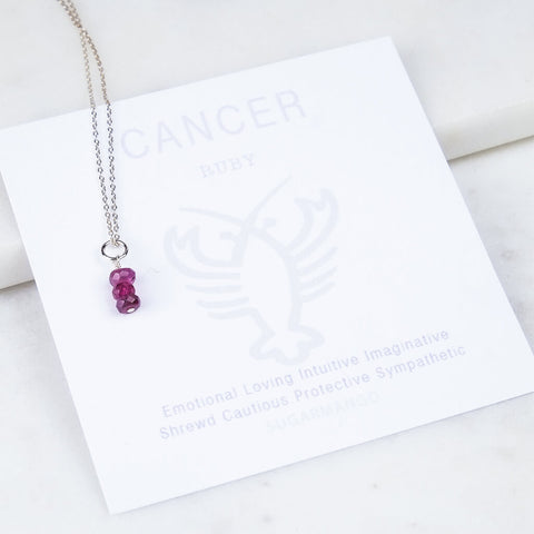 Cancer Birthstone Necklace