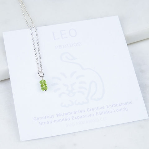 Leo Birthstone Necklace