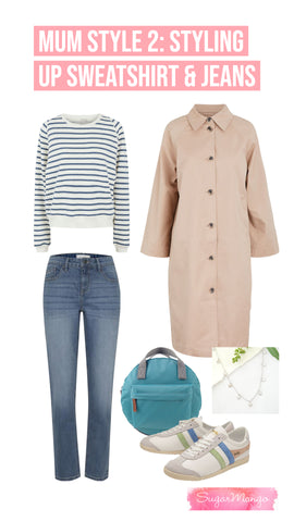 Mum jeans outfit styling