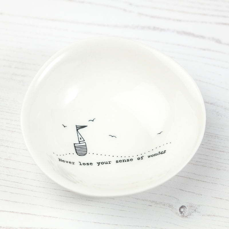Porcelain Wobbly Bowl - 'Never lose...' - SugarMango