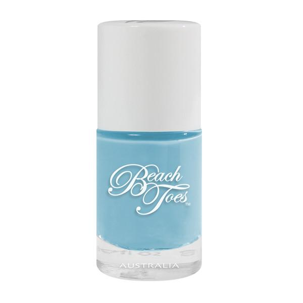 Beach Toes  Blue Nail Polish Pastel Blue Baby Wave