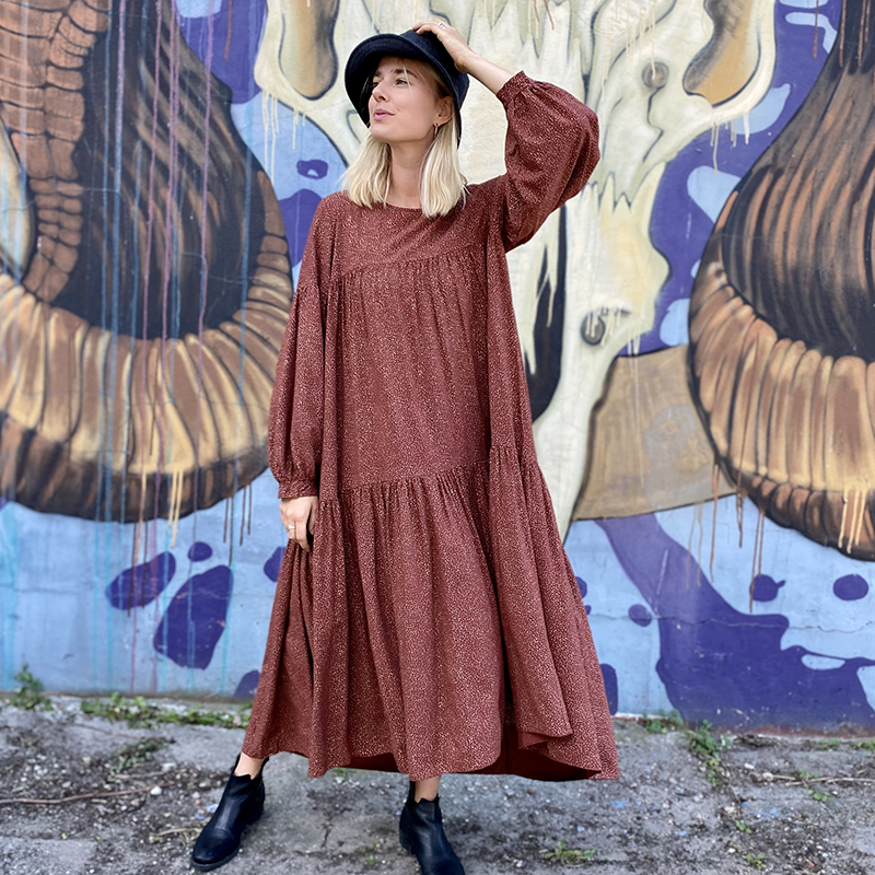 boho dress autumn shades