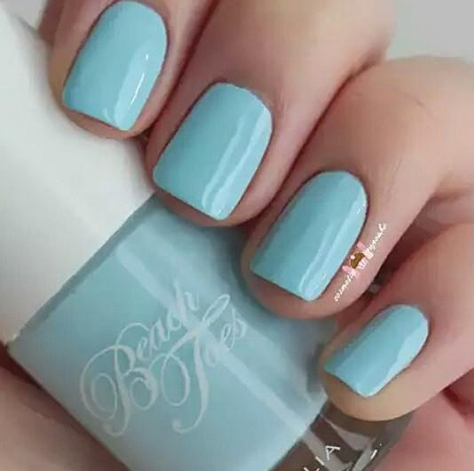 Beach Toes Pastel Blue Nail Varnish