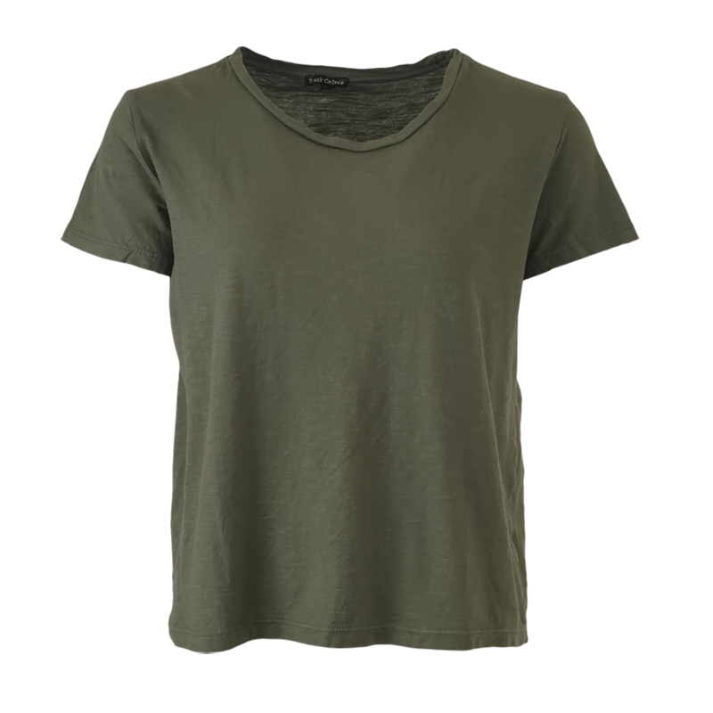 basic t-shirt for women in army green