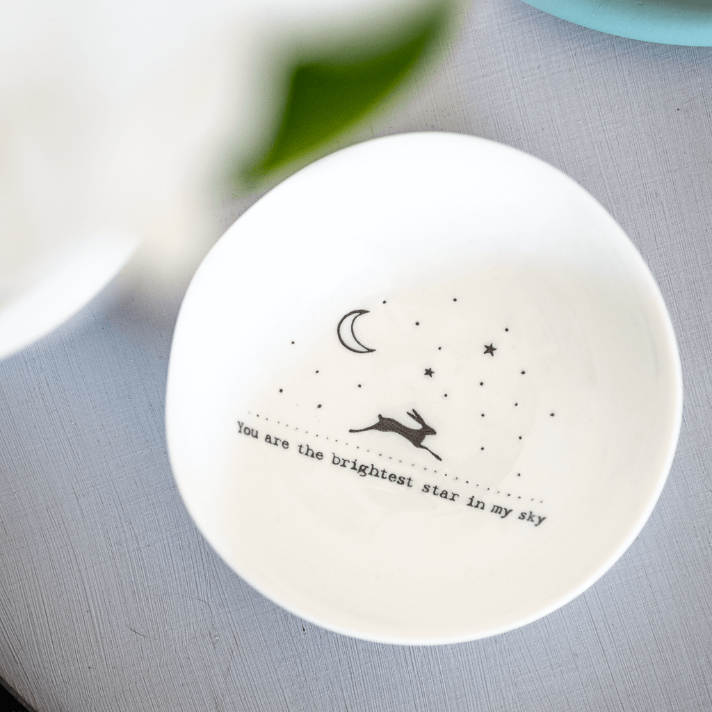 porcelain trinket dish you are the brightest star in my sky quote