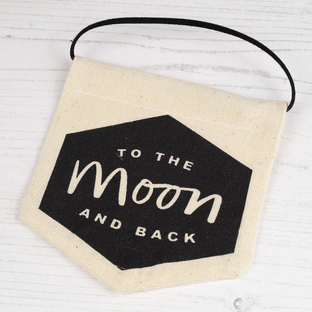to the moon hanging banner